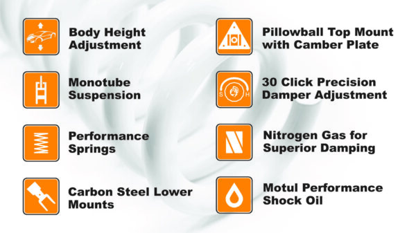 Trüpower Superior Performance Coilover Suspension Specifications